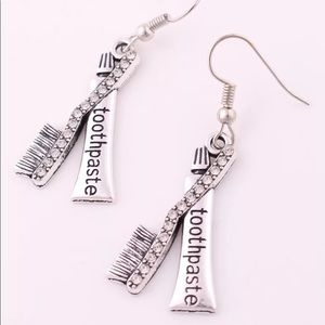 Adorable Toothbrush & Toothpaste Earrings